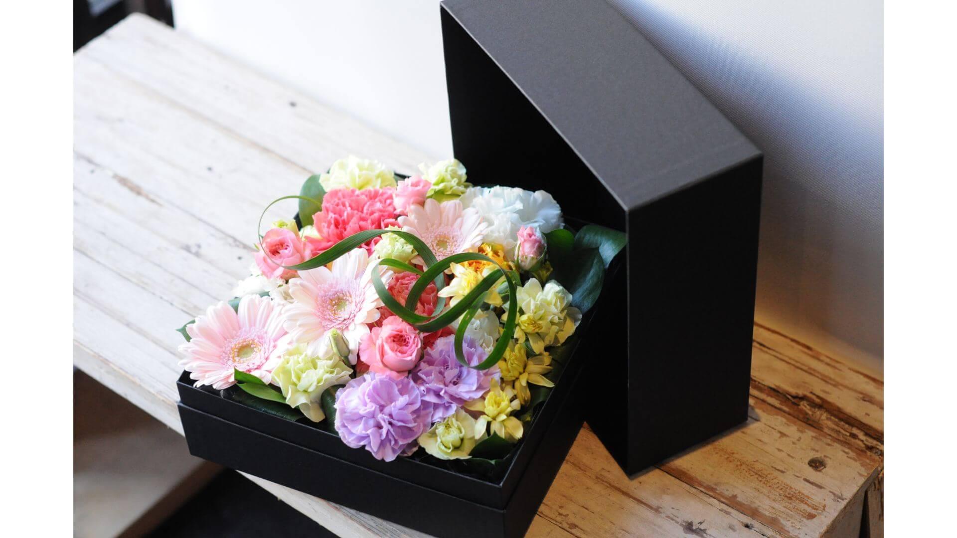 BOXフラワースクエアー・ピンクB