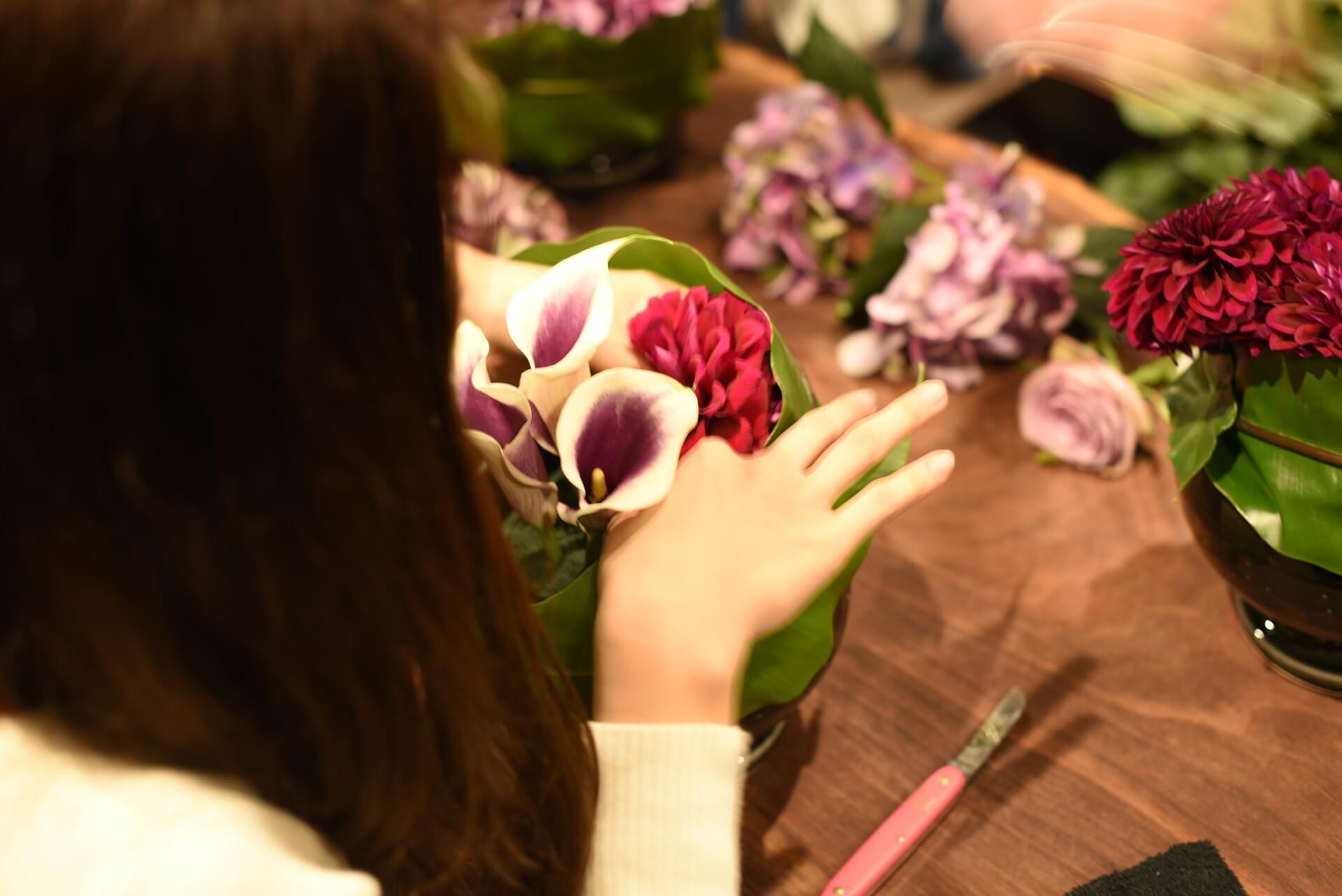 10月よりお花教室の新コースが始まりました。